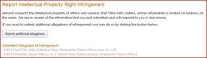 amazon Intellectual Property Infringement